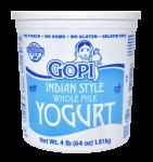 Yogurt Plain Whole Milk 64 oz.