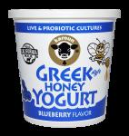 Greek Honey Yogurt Blueberry Flavor Whole Milk 24 oz.