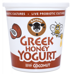 Greek Honey Yogurt Coconut Flavor Whole Milk 24 oz.