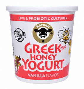 Greek Honey Yogurt Vanilla Flavor Whole Milk 24 oz.