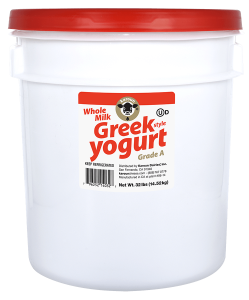 Greek Style  Yogurt Plain Whole Milk Pail 32 lb.