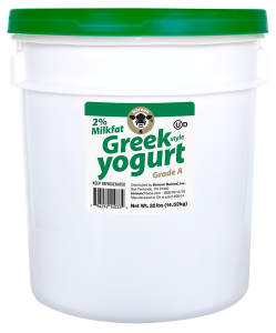 Greek Style Yogurt Plain Lowfat Pail 32 lb.