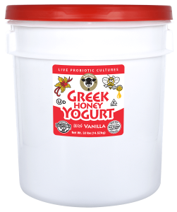 Greek Honey Yogurt Vanilla Pail 32 lb.