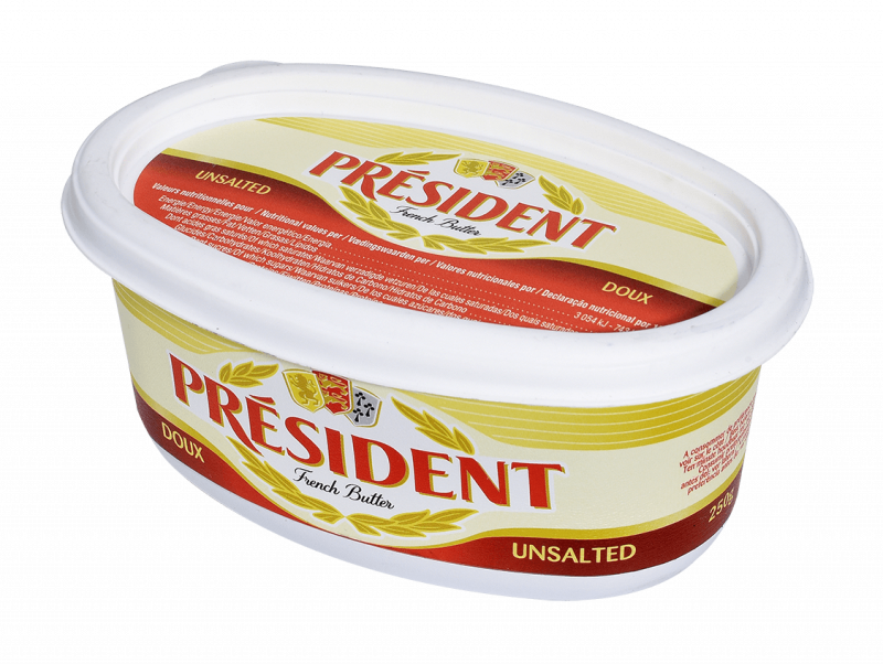 président spreadable unsalted butter 250 g