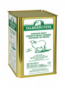 Valbreso French Sheep's Milk Cheese Tin 16 kg.