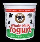 Yogurt Whole Milk Plain 64 oz.