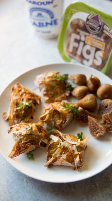 Cinnamon Fig Labneh Puff Pastry Bites