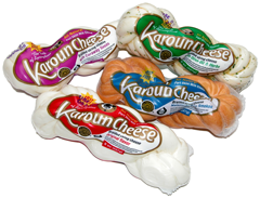 Multiple Karoun Brand string cheese packages